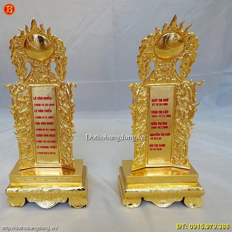 Bài Vị Mạ Vàng 24k, thờ cúng gia tiên