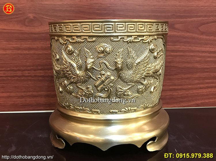 Bát Hương Bằng Đồng Thau thờ cúng ĐK 20cm