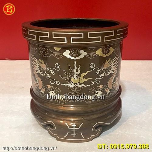 Lư Hương Đồng Tam Khí đường kính 20cm