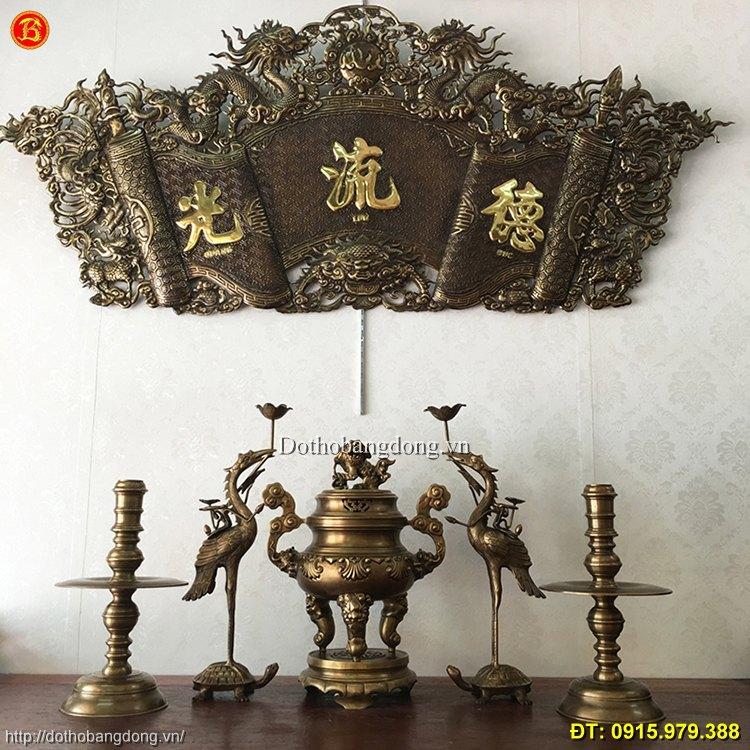 Ngũ Sự Đỉnh Sòi Hun Giả Cổ cao 50cm