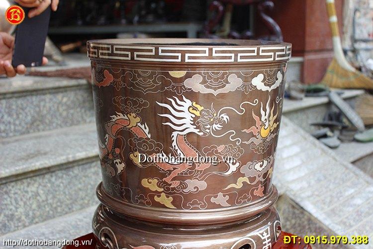 Bát Hương Thờ Khảm Ngũ Sắc Đình Chùa 40cm