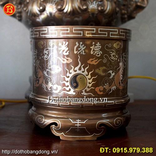 Bát Hương Thờ Khảm Tam Khí Thờ Cúng, Cung Tiến