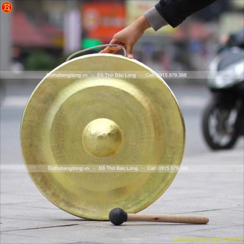 Chiêng Bằng Đồng Vàng đường kính 60cm