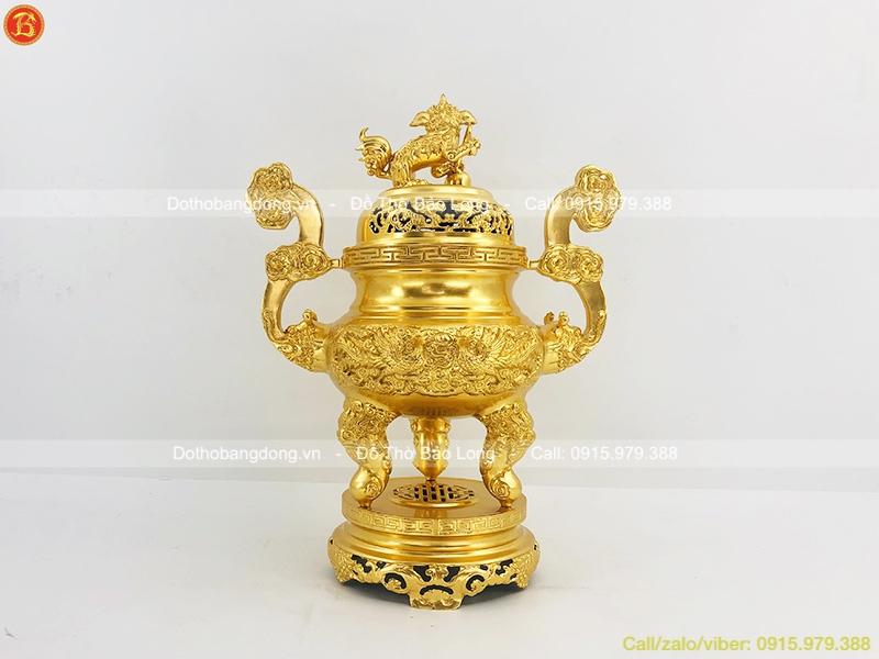 giá đỉnh thờ dát vàng
