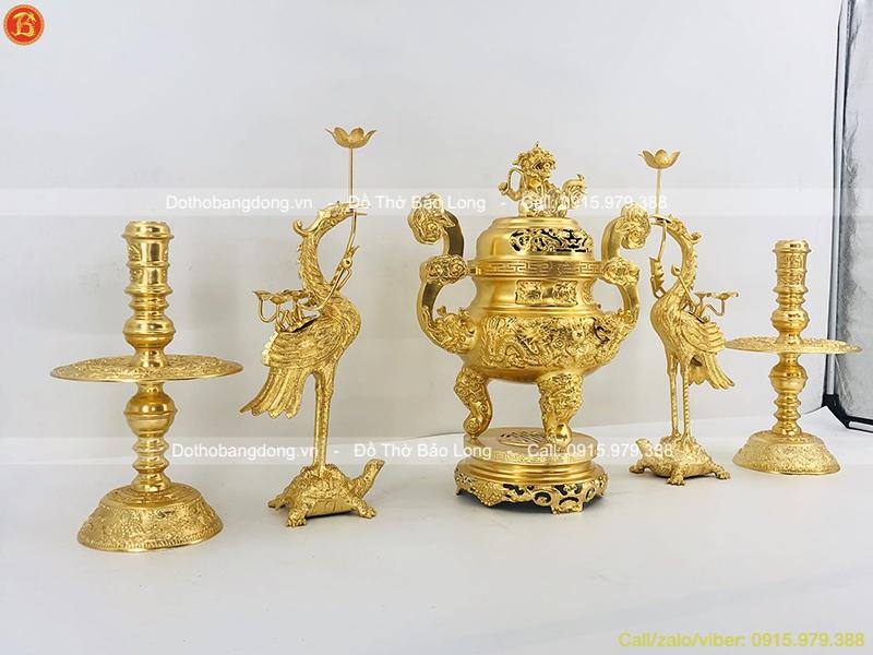 ngũ sự bằng đồng dát vàng