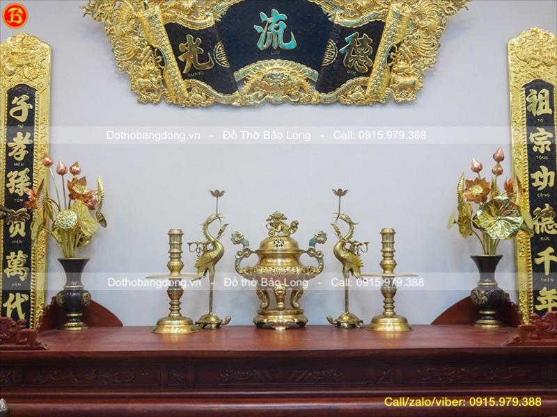 đồ thờ bằng đồng thau
