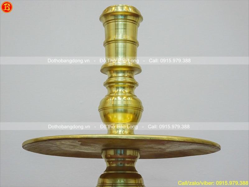Chân Nến Bằng Đồng Cát Tút Cho Bộ Đồ Thờ 70cm