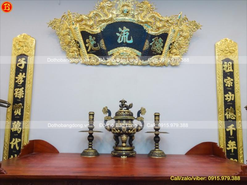 Bộ Tam Sự Đỉnh Rồng Đồng Vàng 2 Màu 60cm
