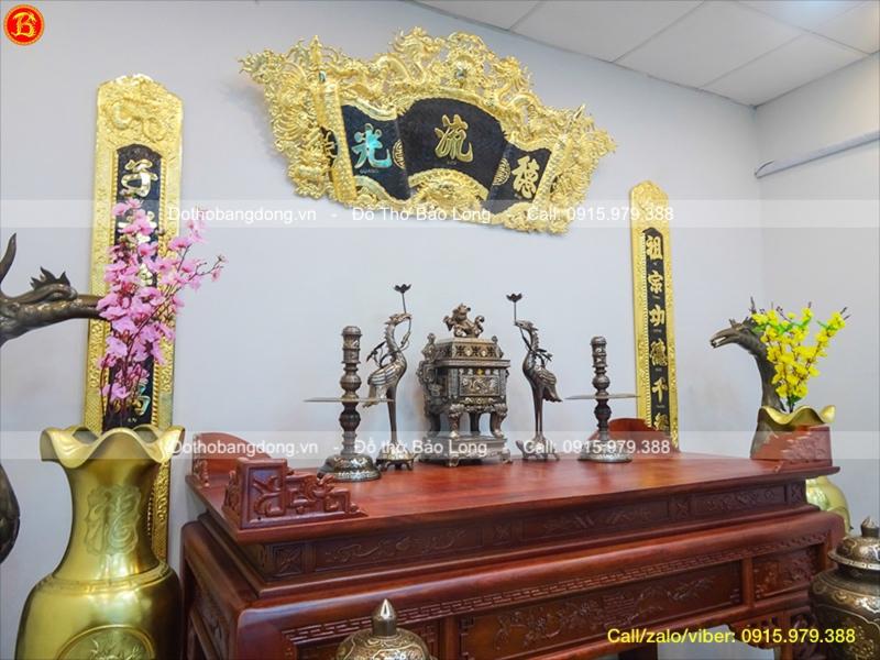 Ngũ Sự Khảm Tam Khí Vuông Cao 60cm