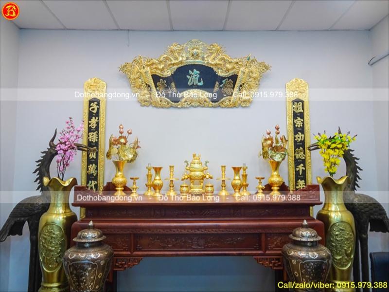 đồ thờ dát vàng đỉnh vuông