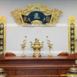 Giải mã ý nghĩa cuốn thư, đại tự câu đối trong văn hóa thờ tự người Việt