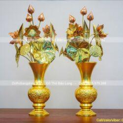 Top 7 mẫu bình bông, lọ hoa thờ Phật, cúng dường Tam Bảo đẹp nhất