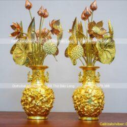 Ở đâu bán bó hoa sen bằng đồng bày ban thờ chất lượng?