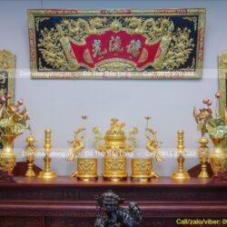 50+ Đồ thờ cúng dát vàng 9999 cao cấp, chất lượng tốt nhất