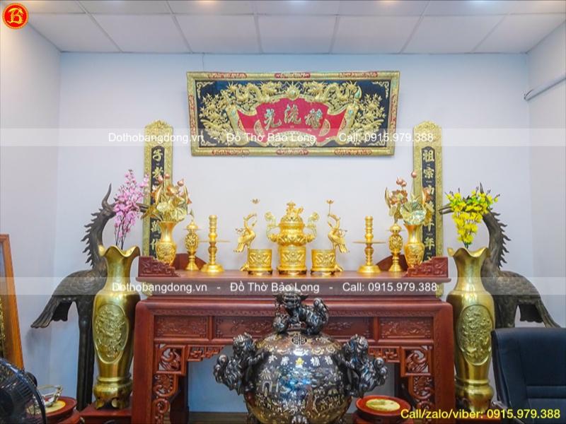đồ thờ cúng dát vàng 9999