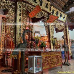 Báo giá cửa võng bằng đồng bày trí ban thờ nhà thờ tổ, đình chùa