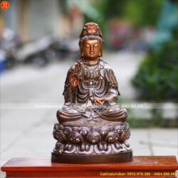 Nên chọn tượng Phật A Di Đà đứng ngoài trời bằng đồng hay đá?