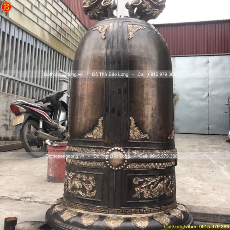 Chuông đồng 350kg cho chùa Thiện Minh, Quảng Ninh