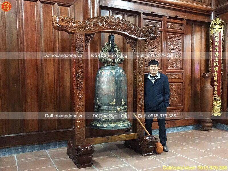 chuông đồng 350kg cho chùa Thiện Minh