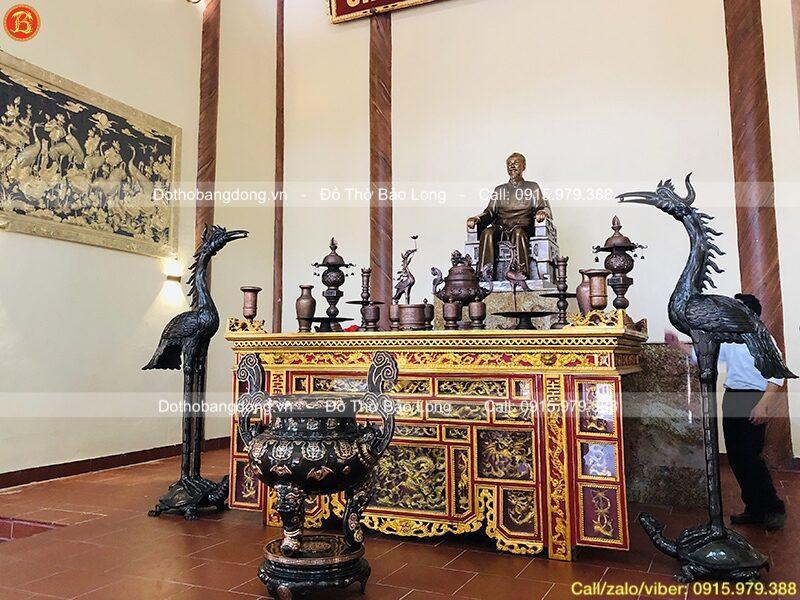 bàn giao tượng, tranh đồ thờ cho phòng thờ bác