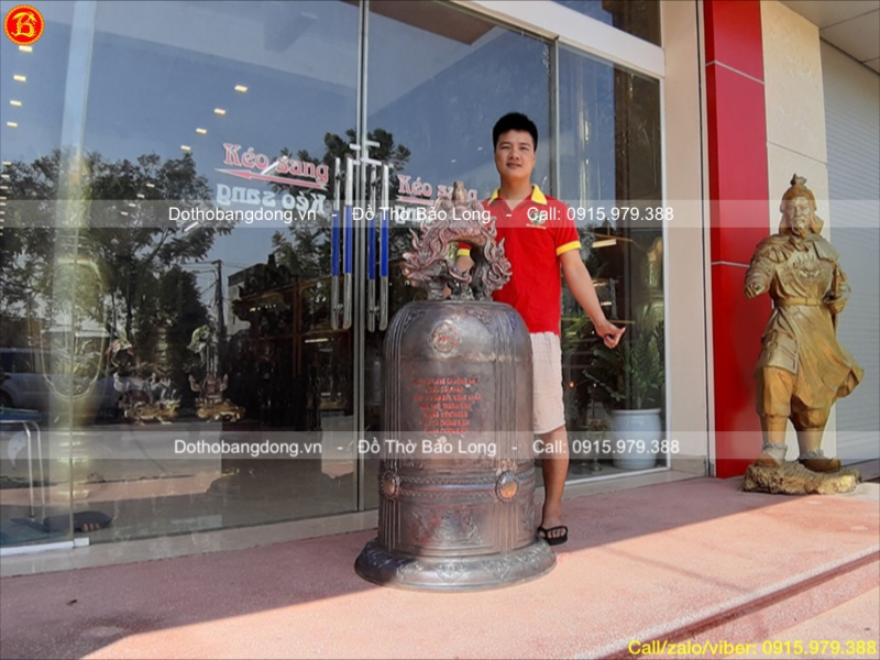 Đúc Chuông đồng 270kg bằng đồng đỏ
