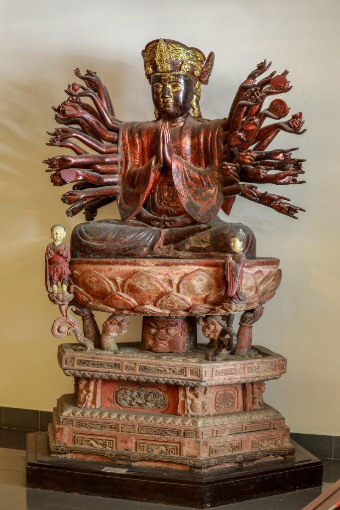 đặc điểm tượng phật bà quan âm chùa hội hạ