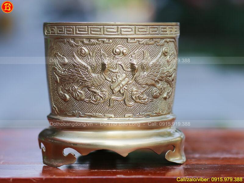 Bát hương thờ bằng đồng thau 16cm